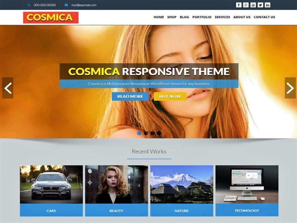 Free Cosmica Wordpress theme