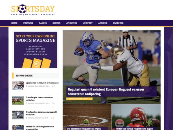 Free MH SportsMagazine Wordpress Theme