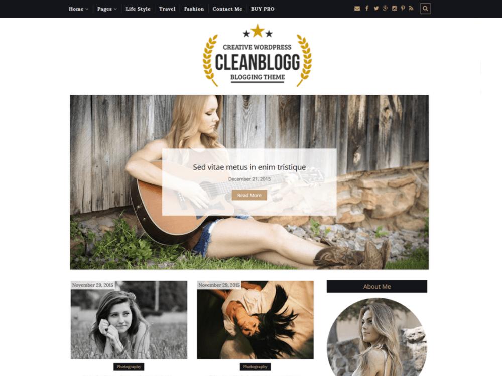Free CleanBlogg Wordpress Theme