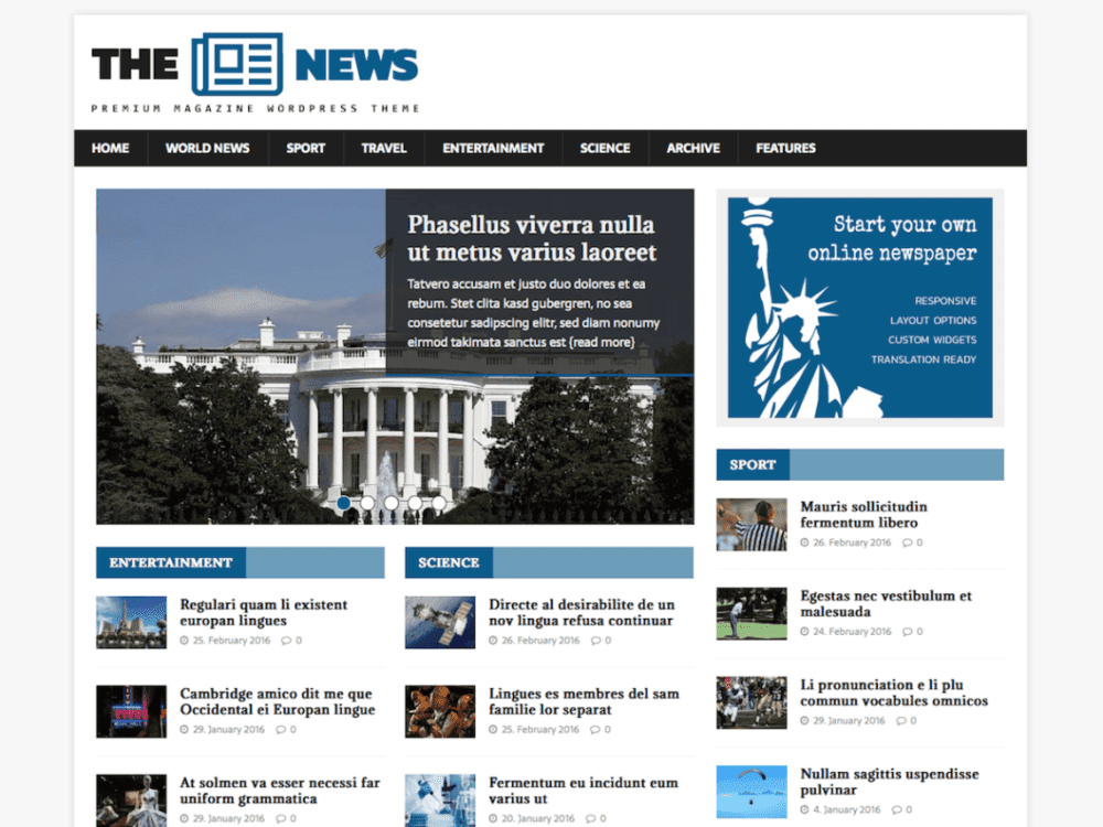 Free MH NewsMagazine Wordpress Theme