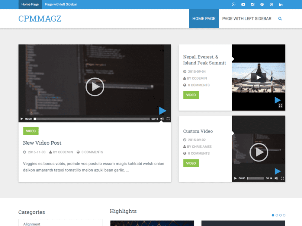 Free CPMmagz Wordpress Theme