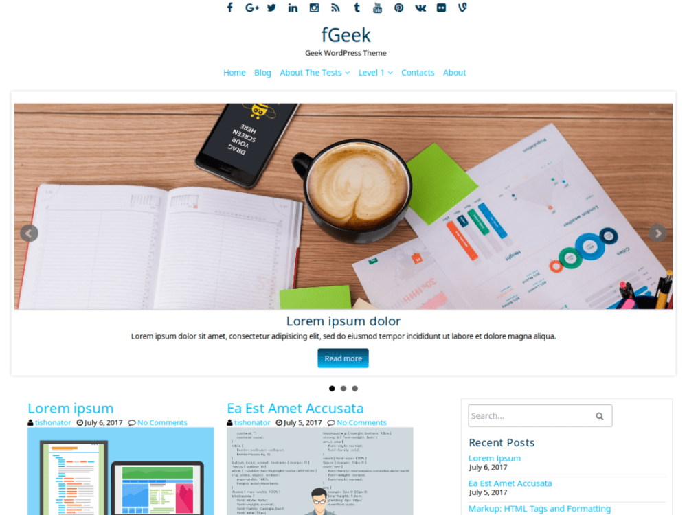 Free FGeek Wordpress Theme