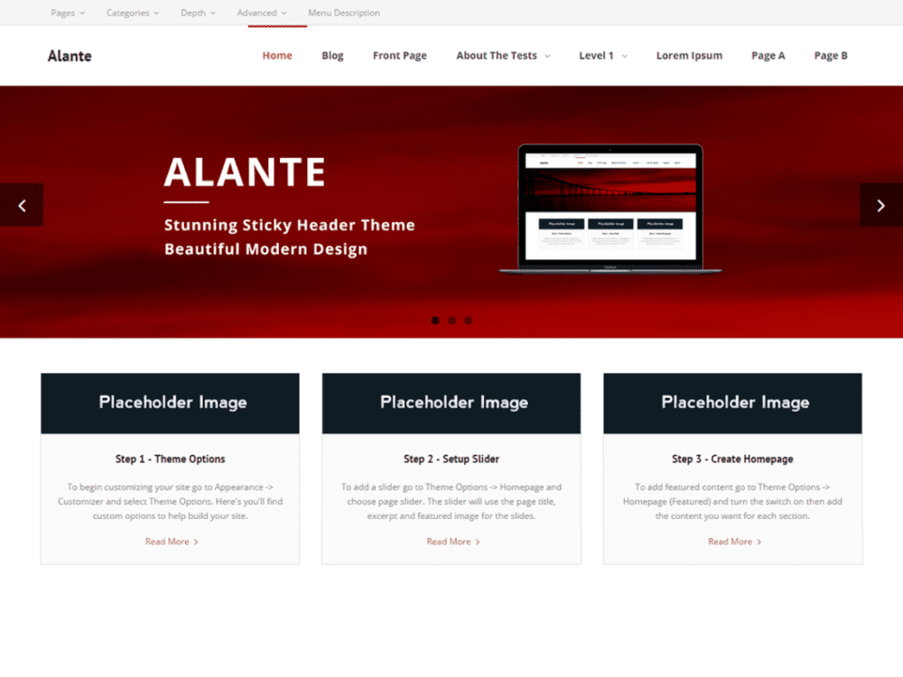 Free Alante Wordpress theme