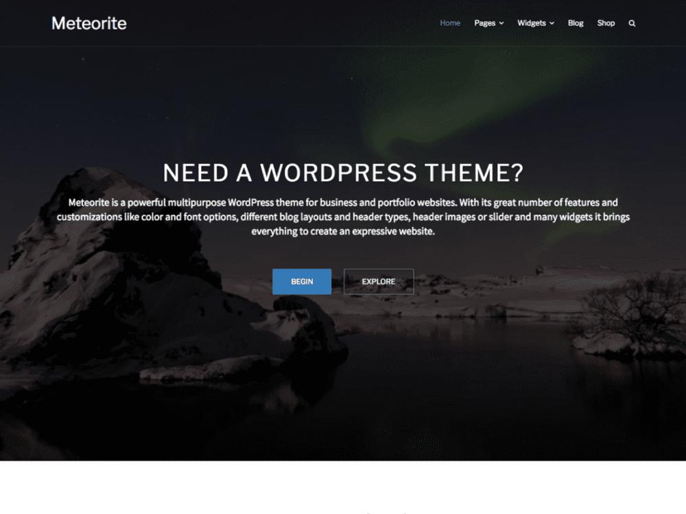 Free Meteorit Wordpress theme