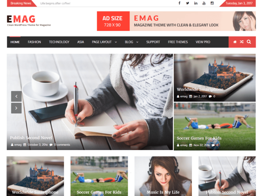 Free EMag Wordpress Theme