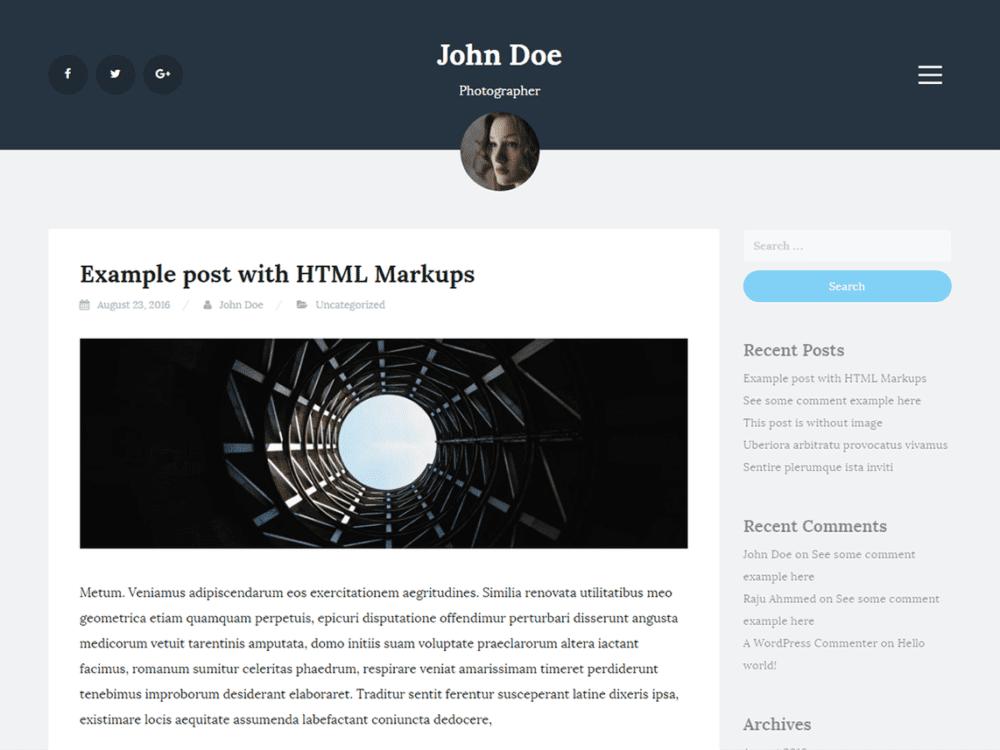 Free Blogi Wordpress Theme