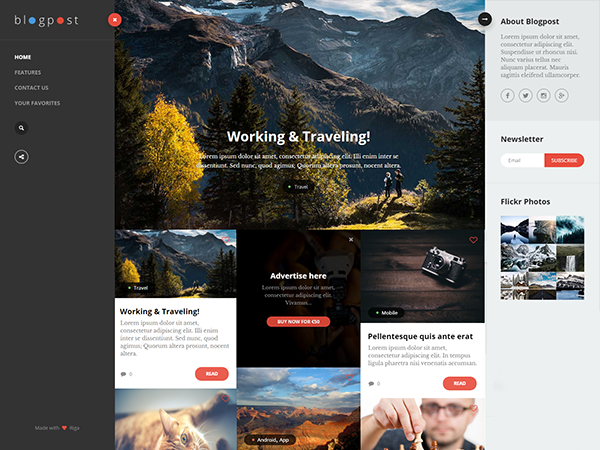 Free BlogPost Lite Wordpress Theme