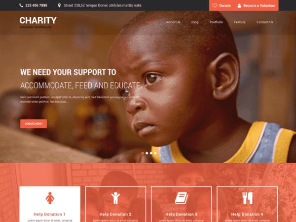 Free SKT Charity Wordpress Theme