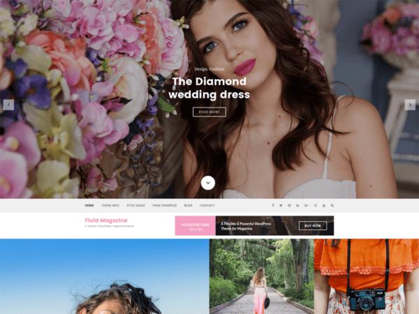Free Fluid Magazine Wordpress Theme