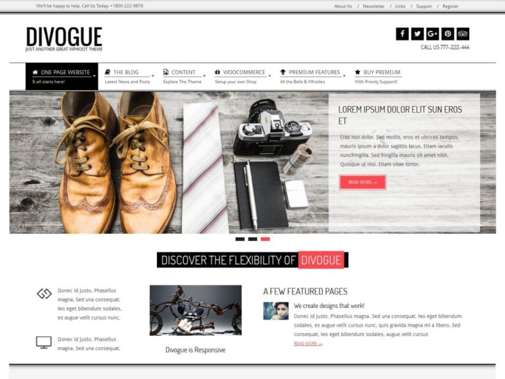 Free Divogue Wordpress Theme