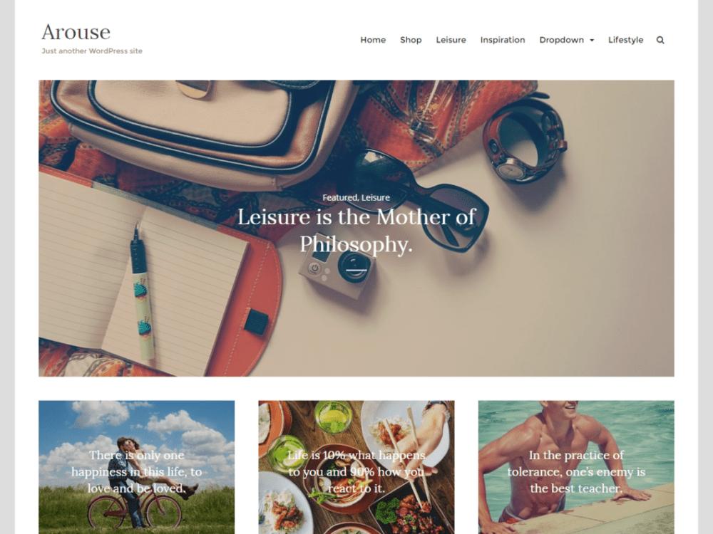 Free Arouse Wordpress Theme
