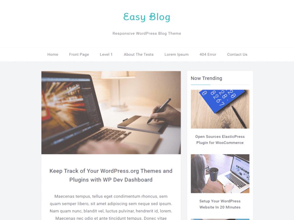 Free EasyBlog Wordpress Theme