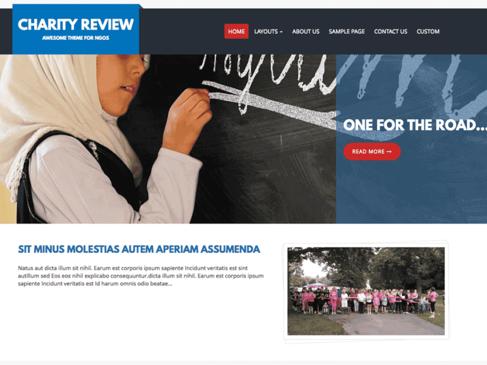 Free Charity Review Wordpress Theme