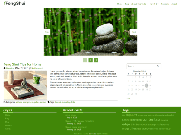 Free FFengShui Wordpress Theme