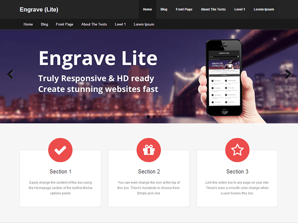 Free Engrave Lite Wordpress Theme
