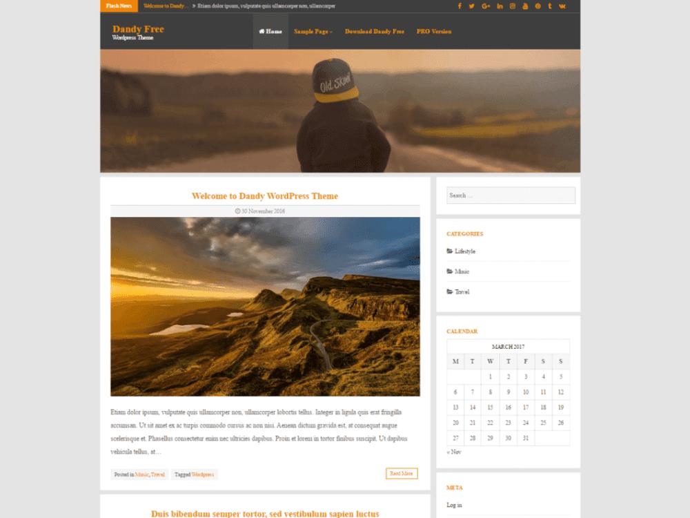 Free Dandy Wordpress Theme