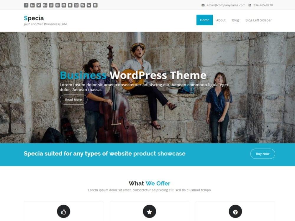 Free Specia Wordpress Theme