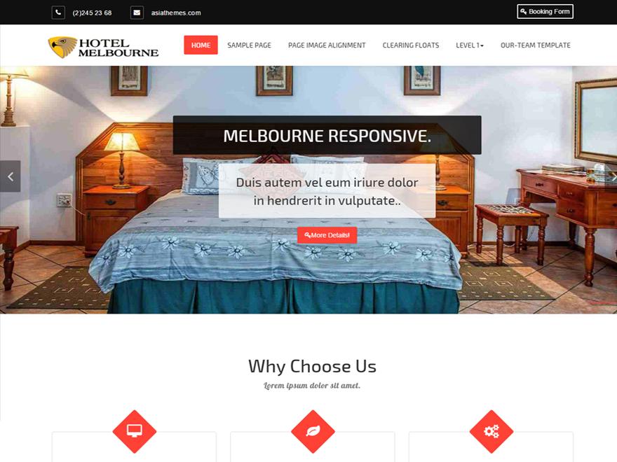 Download Free Hotel-Melbourne Wordpress Theme - JustFreeWPThemes