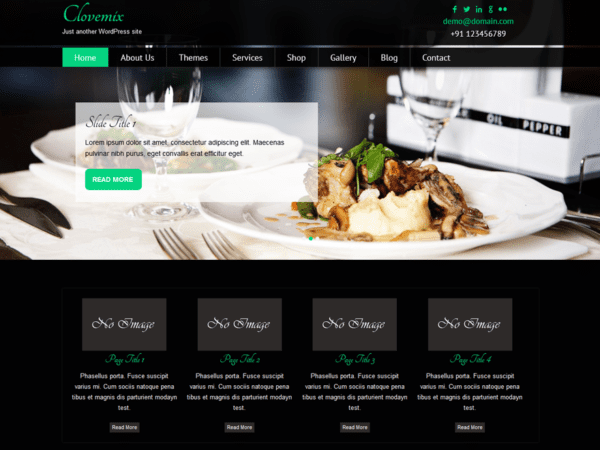 Free Clovemix Wordpress theme