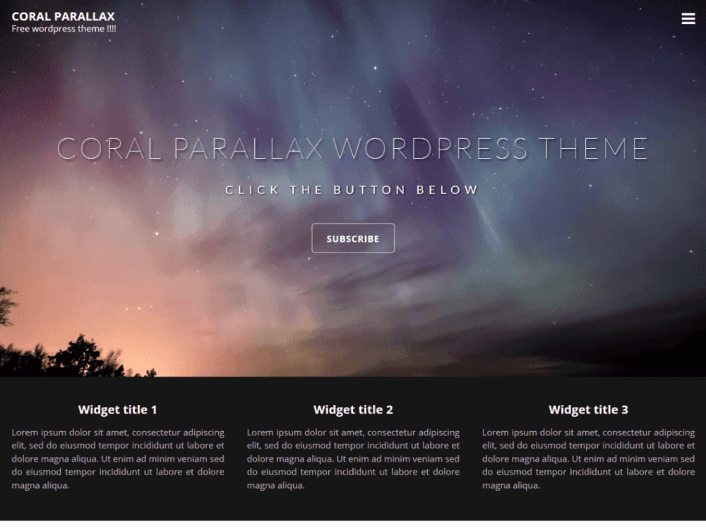 Download Free Coral Parallax Wordpress theme - JustFreeWPThemes
