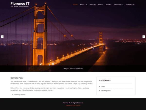 Free Florence IT WordPress theme
