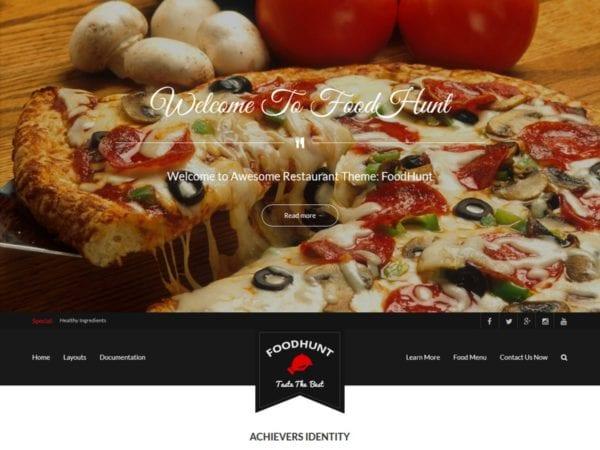 Free FoodHunt WordPress theme