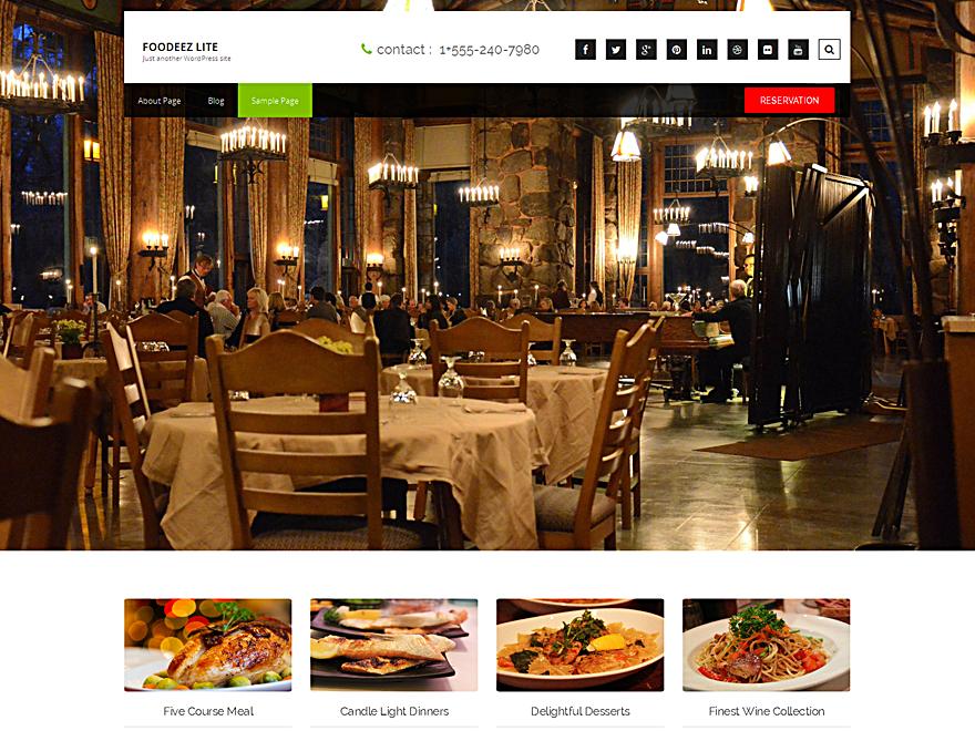 Free Foodeez Lite Wordpress theme