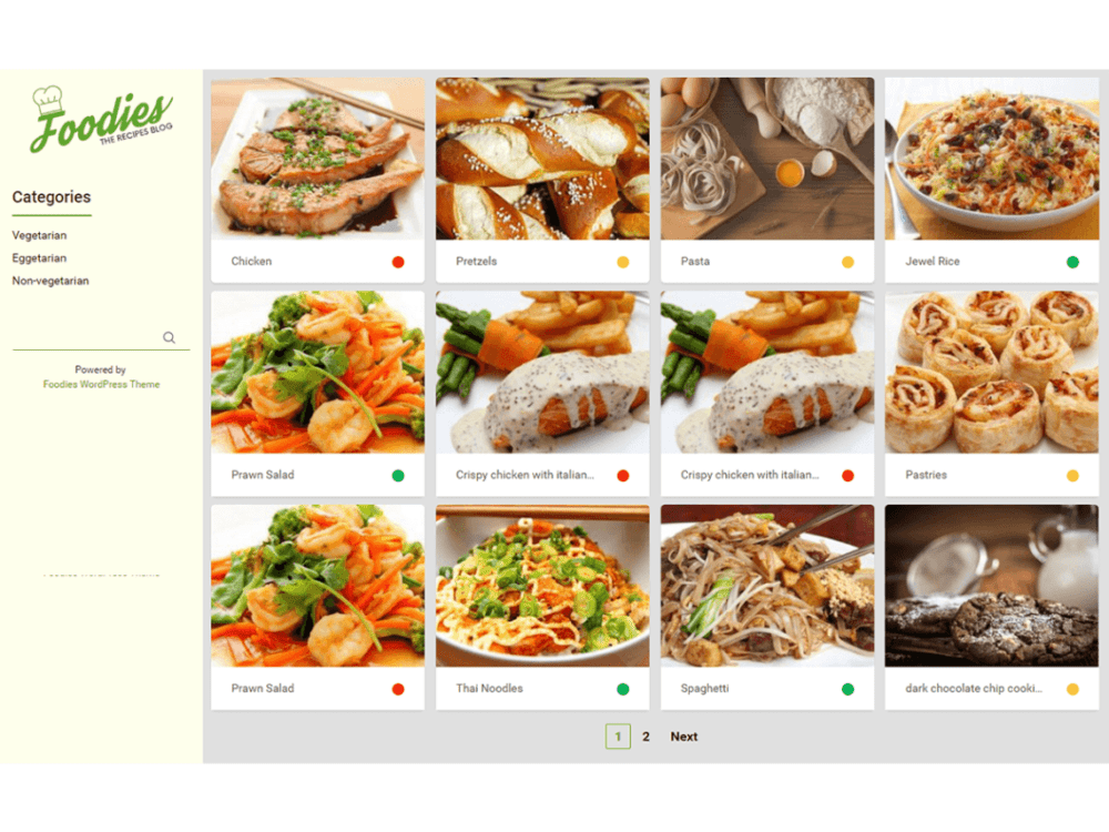 Free Foodies Wordpress theme