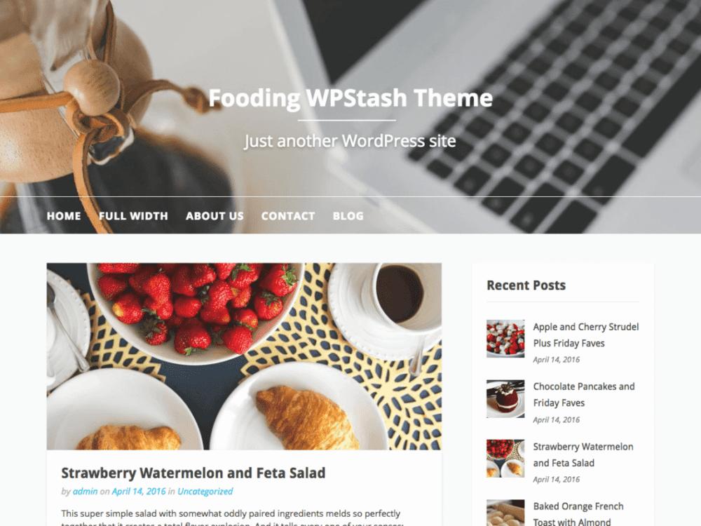 Free Fooding Wordpress theme