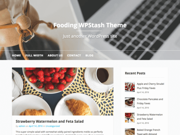 Free Fooding Wordpress theme