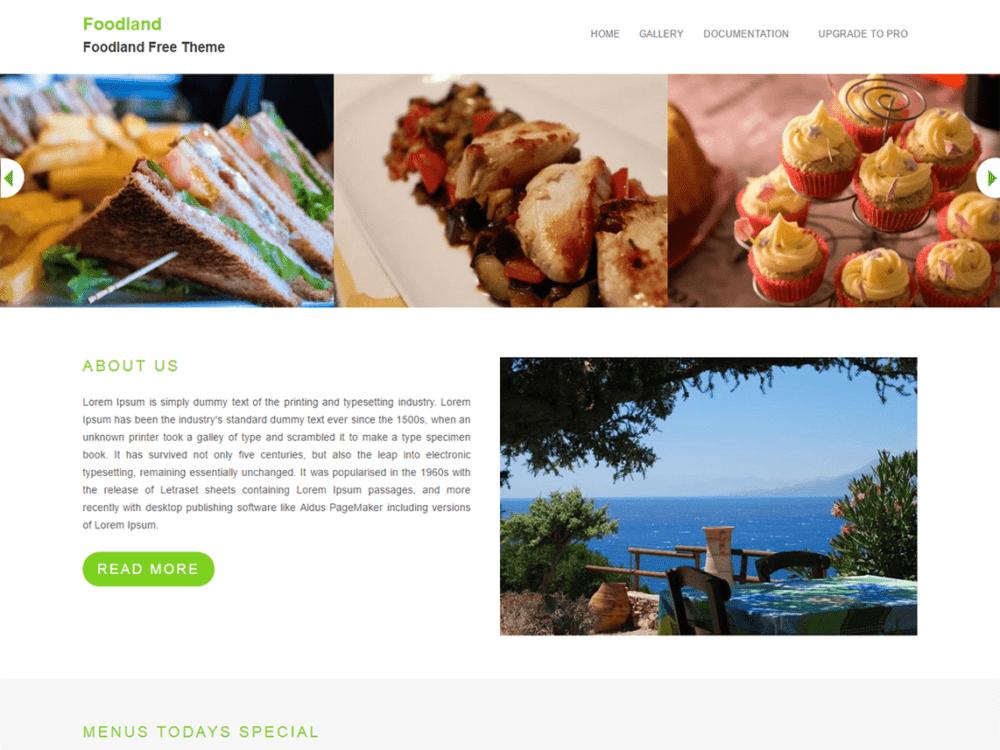 Free Foodland Wordpress theme