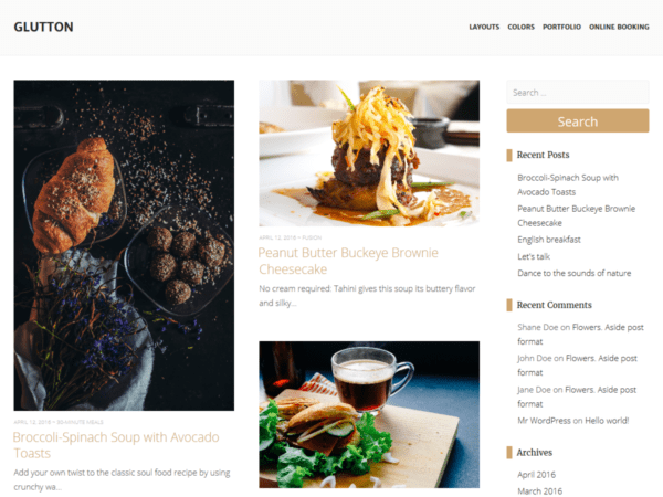 Free Glutton Wordpress theme
