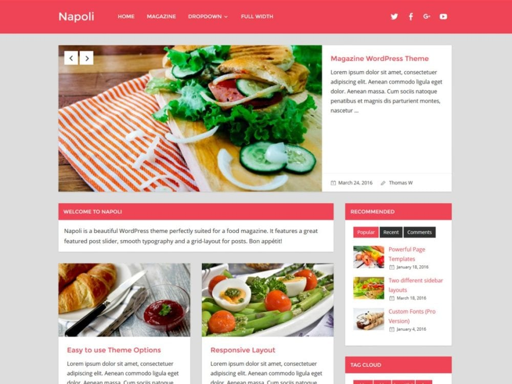 Free Napoli WordPress theme
