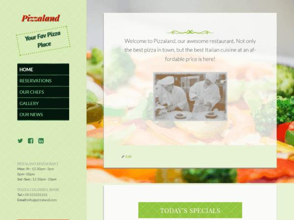 Free Pizzaland Wordpress theme