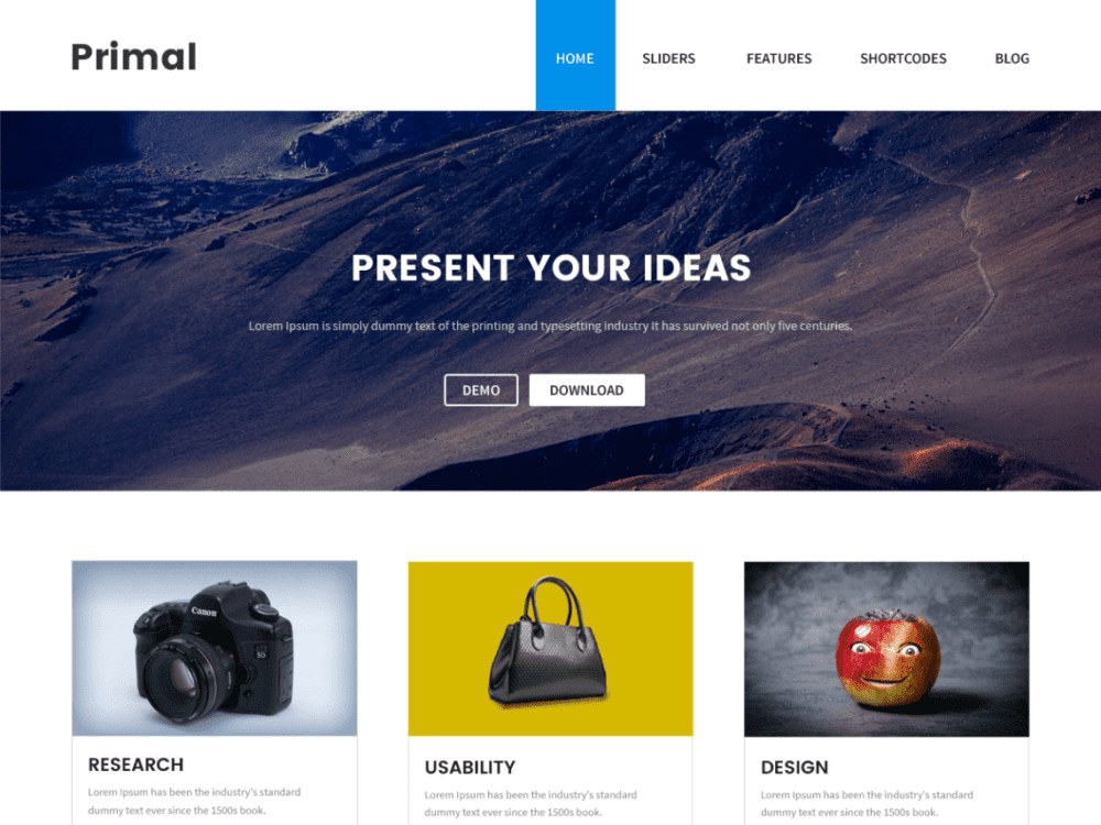 Download Free Primal Wordpress theme - JustFreeWPThemes