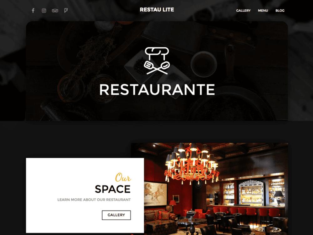 Free Restau Lite Wordpress theme