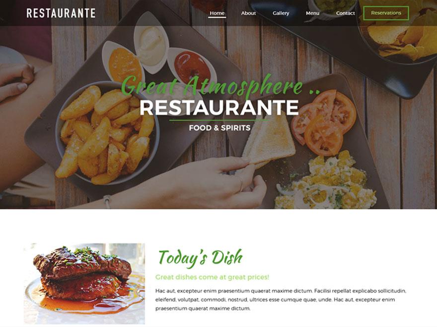 Free Restaurante Wordpress theme