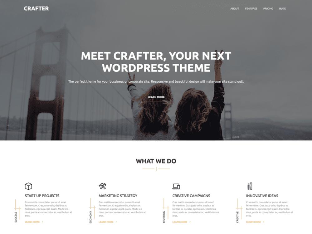 Download Free Craft Wordpress theme - JustFreeWPThemes