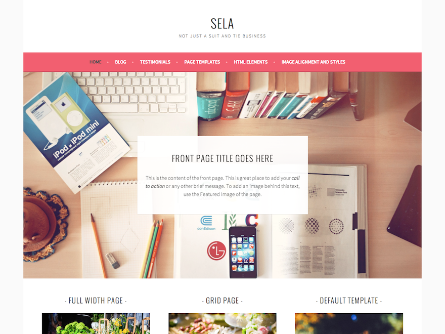 Download Free Sela WordPress theme - JustFreeWPThemes