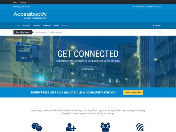 Free AccessBuddy Wordpress theme