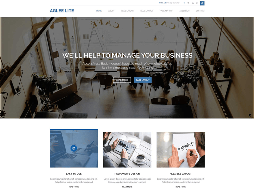 Free Aglee Lite Wordpress theme