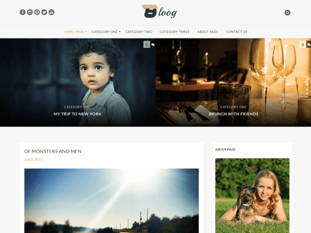Free Bloog Lite Wordpress theme