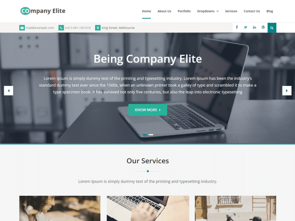 Download free company elite wordpress theme justfreewpthemes company elite is a delightful imaginative and upgraded business wordpress template with inventive plan it is definitely not hard to use and can be friedricerecipe Images