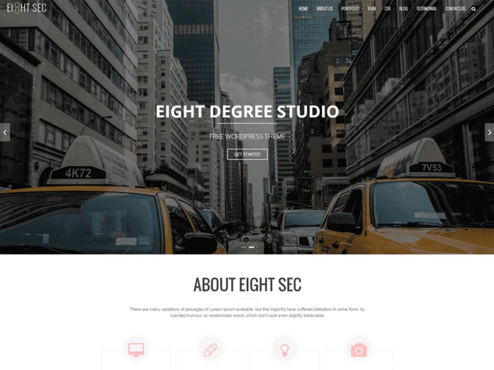Free Eight Sec Wordpress theme