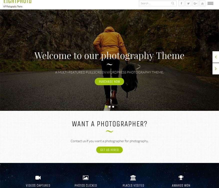 Free EightPhoto Wordpress theme