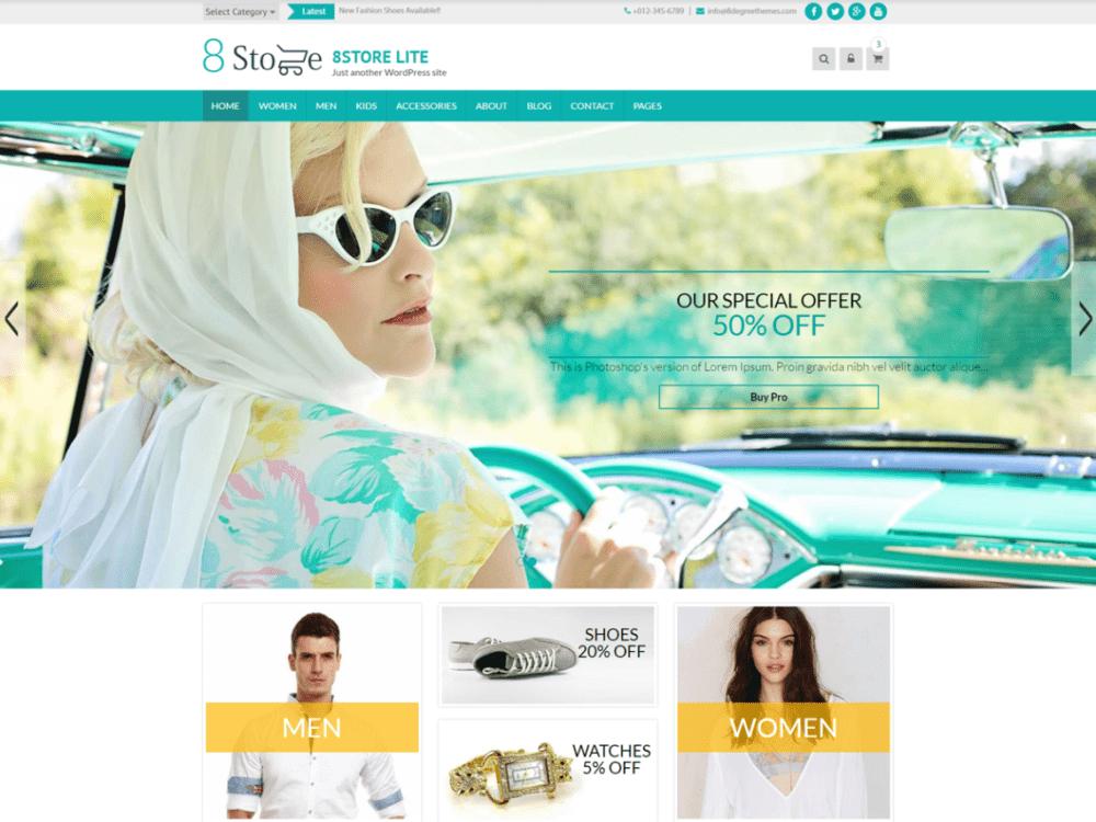 Free EightStore Lite Wordpress theme