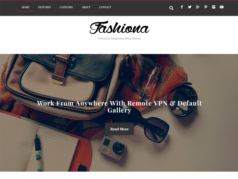 Free Fashiona Wordpress theme