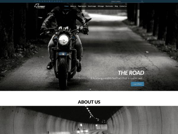 Free FortySeven Street Wordpress theme