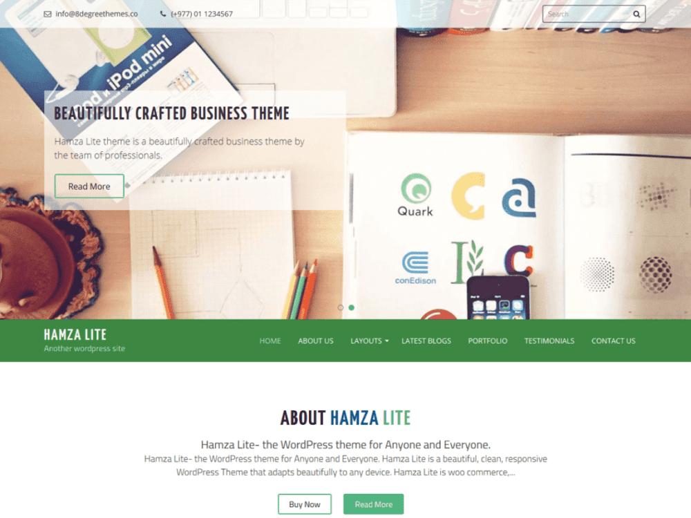 Free Hamza Lite Wordpress theme