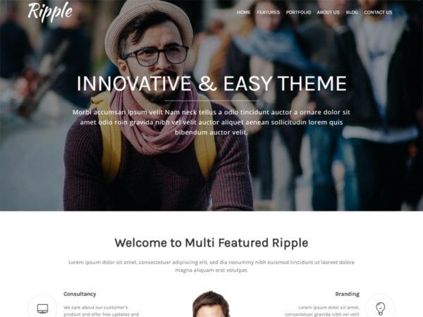 Free Ripple Wordpress theme